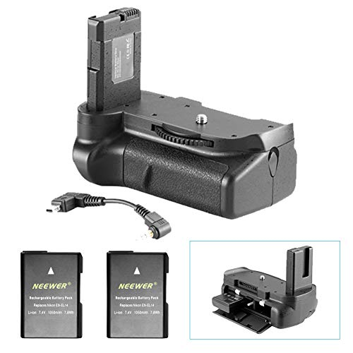 Neewer® Pro (Pro Version von Neewer Produkt) Batterie Griff Kompatibel mit EN-EL14 Akku + 2 Stück Ersatz EN-EL14 Akku 7.4V 1050mAh für Nikon D5100 5200 D5300 DSLR-Kamera