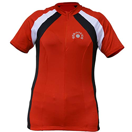 STANTEKS Ärmelloses Radtrikot Fahrradtrikot Fahrradshirt Funktionsshirt SR0036 (40, rot)