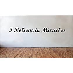wandaufkleber 3d schlafzimmer I Believe In Miracles Wall Quote Cute Home Decor Inspirational Faith Wall Art