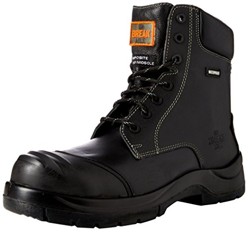Unbreakable Trench-master Metal Free Ankle With Rhino Ridge Bump Cap And Kick Plate, Bottes & bottines de sécurité homme