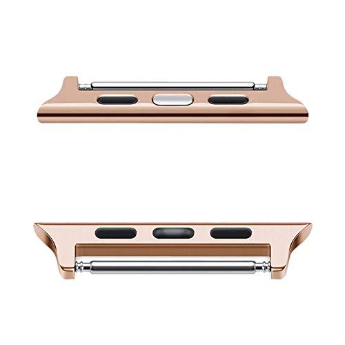 Vamoro Armband-Adapter-Armband-Verbindungsstück für Apple Watch/iWatch Serie 4 40mm(Rose Gold)