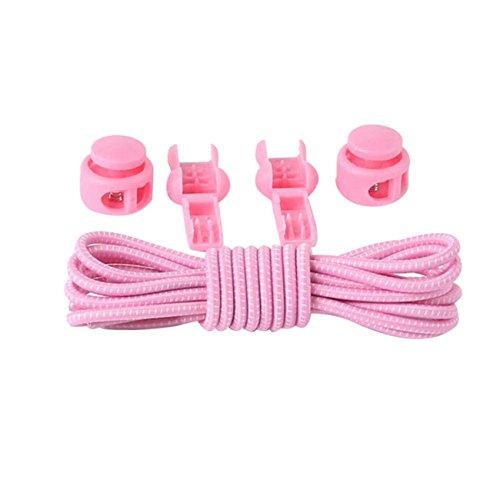 HCFKJ Nouveaux Lacets éLastiques Lacets Chaussures Rondes Baskets à La Mode Quick Locking Lacets F