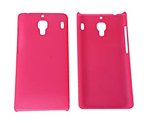 Wow Hard Protective Back Cover For Xiaomi Red Mi 1s - Dark Pink