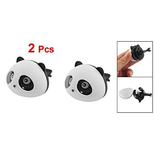 Bestlymood 2 Pz Profumo a Forma di Panda Nera e Bianca Auto Deodorante con Du