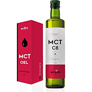 MCT-Öl C8 ACTIVEVITAL 500ml Neutral aus Kokos-Öl Bulletproof Coffee Pure Caprylsäure (C-8) Vegan