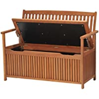 Chichester FSC Eucalyptus Wood Outdoor 2 Seater Storage Bench