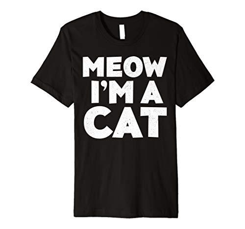 (Meow I 'm a Cat T-Shirt Halloween-Kostüm Shirt)