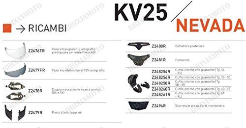 Kappa RICAMBIO Z248260R - CUFFIA INTERNO CON GUANCETTE