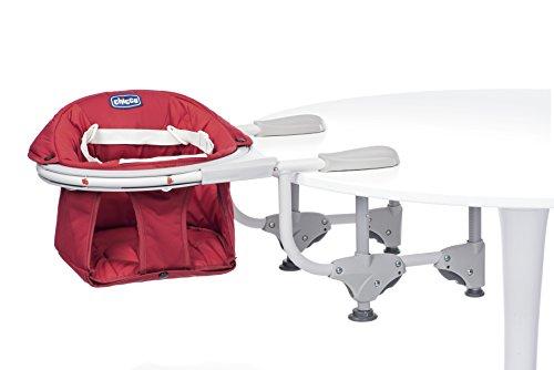 Chicco 04079496700000 seggiolino da tavolo 360°, 5m+, rosso