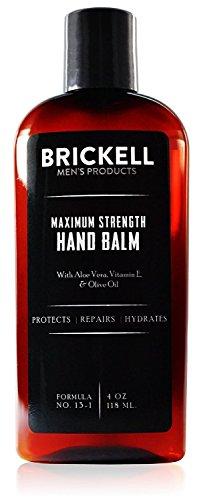 Brickell Men's Maximum Strength Handlotion für Männer - Natürlich und Organisch - Ohne Duftstoffe - 4 oz