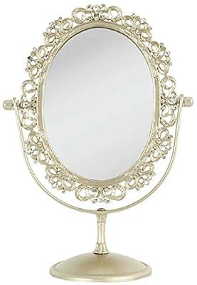 Clayre & Eef 62S054 Spiegel Standspiegel Schminkspiegel ca. 27 x 20 x 11 cm