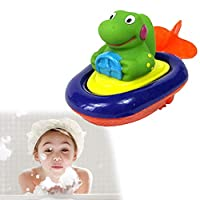 1 Pcs Fun Clockwork Dabbling Toy Baby Bath Water Fun Game Children