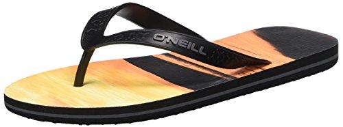 O'Neill Herren Fm Profile Pattern Flip Flops Zehentrenner mehrfarbig (RED Allover Print W/ BLACK)