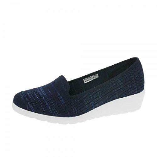 Heavenly Feet Zapatos de Cherry Azul Marino, Color Azul, Talla 42