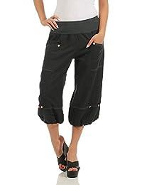 ZARMEXX Pantalones Capri de Lino de Mujer Pantalones de Verano Pantalones  Básicos de Lino Knickerbocker Bermuda f52d194b17d6