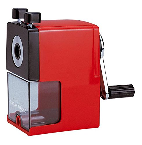 Caran d'ache - temperamatite in plastica con serbatoio, colore: rosso