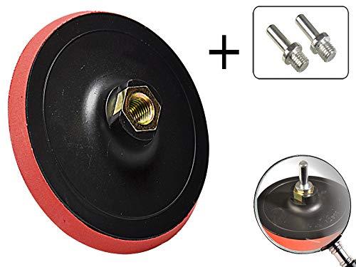 3 - teiliges Set Klett-Schleifteller 150 mm + 2 Adapter für Bohrmaschine mit M14 Gewinde