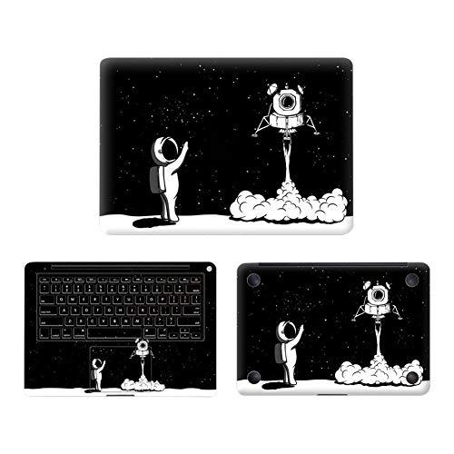 Preisvergleich Produktbild Laptop-Gummi-Aufkleber 3 IN 1 Cover Schutzfolie Schutzaufkleber Astronaut Pattern für Macbook Pro