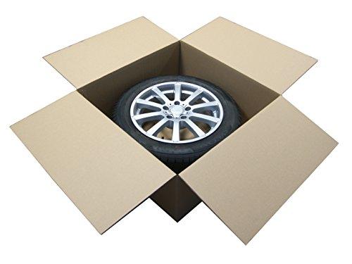"""Preisvergleich Produktbild 1 Stück Felgenkarton für Ein Komplettrad 14"""" - 19"""" 660mm x 660mm x 300mm / Karton / Felgen / Komplettrad / Reifen / Reifenkarton / Faltkarton / Rad / New / complete / wheel / cardboard / Versand / Lagerung / Werkstatt / Alufelgen / Stahlfelgen / Zoll / Inches / Verpackung / package / Pappekarton / haltbar / carton / Rims / packing / sending / Transport / store / safe / sicher / Neu /"""