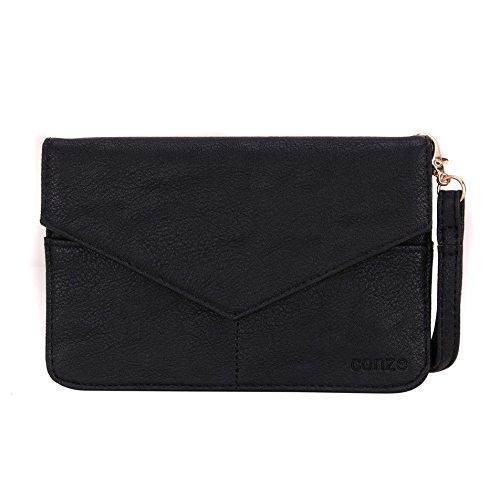 conze de femmes d'embrayage portefeuille tout ce sac avec bretelles pour Smart Téléphone pour Microsoft Lumia 532/Dual SIM gris noir