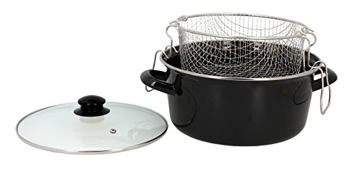 Util'Home 3645580 - Freidora (acero, 26 cm), color negro