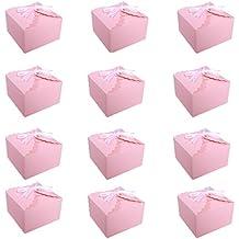DiaryLook Juego de 12 Cajas de Regalo, Bodas, Navidad, Baby Shower, Cajas