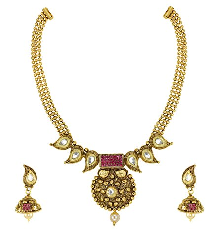 Zaveri Pearls Modern Style Necklace Set For Women - ZPFK4877  available at amazon for Rs.190
