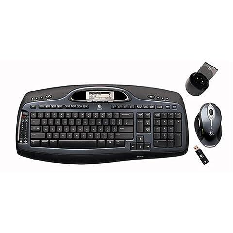 Logitech Cordless Desktop® mX ™ 5000Laser–Clavier (Bluetooth, Noir, Laser, Remplacement