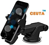 #8: Ceuta, Car Mobile Holder - Premium Universal Car Mount | 360 Degree Rotation | with Anti-Vibration Pads | Anti Shake Fall Prevention [ Black Color ]