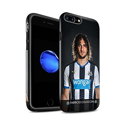 Offiziell Newcastle United FC Hülle / Glanz Harten Stoßfest Case für Apple iPhone 7 Plus / Rivière Muster / NUFC Fussballspieler 15/16 Kollektion Coloccini