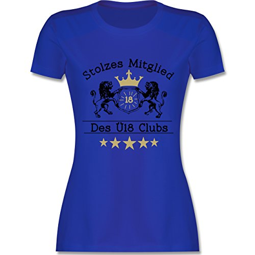 Geburtstag - 18. Geburtstag Stolzes Mitglied des Ü18 Clubs - tailliertes Premium T-Shirt mit Rundhalsausschnitt für Damen Royalblau