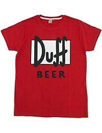 5e3713da9 Madness Camiseta Manga Corta The Simpsons Duff Rojo 2XL