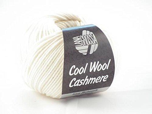 Lana Grossa Cool Wool Cashmere superfein freie Farbwahl Wolle Merino Kaschmir (12 - Weiß) (Wolle Cashmere 10%)