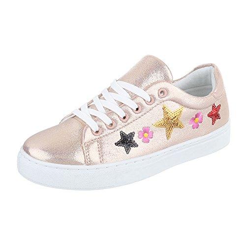 Ital-Design - Pantofole Donna Rosa Gold FC-S27