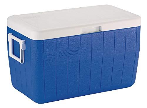 Coleman Kühlbox 48Qt Poly-Lite, 45 Liter Hochleistungskühlbox, kühlt bis zu 3 Tage, mit UV Schutz, Thermobox mit 45L Fassungsvermögen, mobile passiv Eisbox -