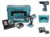 Makita DHP 459 RM1J 18 V Brushless Akku Schlagbohrschrauber im Makpac + 1x 4,0 Ah Akku + DC18RC Ladegerät