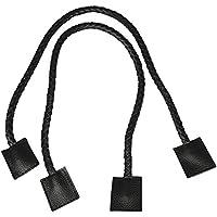 RAYHER HOBBY 64006576 - Asas de Bolso (Trenzadas, Piel sintética, 70x1,2 cm), Color Negro