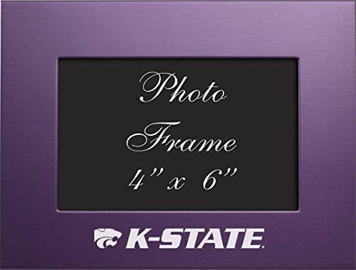 Kansas State University-4x 6gebürstete Metall Bilderrahmen-Violett von Lxg, Inc. Kansas State University