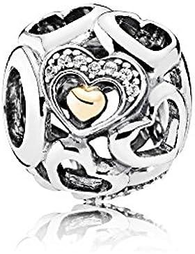 Pandora 792108CZ romantische Herzen Charm