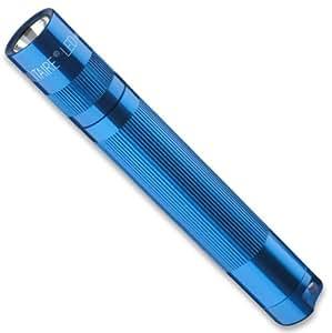 Mag-Lite LED Solitaire bis zu 37 Lumen, 8 cm Mini Taschenlampe, inkl. 1 Micro-Batterie und Schlüsselanhängerschlaufe, blau, SJ3A116