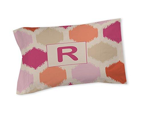 Manuelle holzverarbeiter & Weavers Kissen Sham, Standard, Monogramm Buchstabe R, pink Batik -
