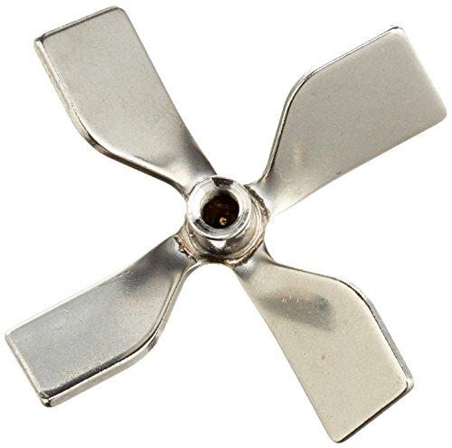 neoLab 2-2381 Rührer aus Edelstahl, kleeblattförmig, Durchmesser 50 mm für Rührstab 6 mm
