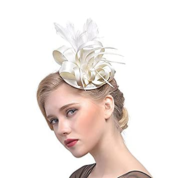 Mjw W Women S Retro Feather Fabric Headpiece Wedding Party