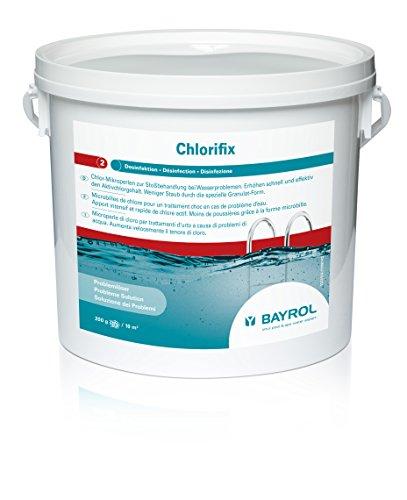 BAYROL Chlorifix–Granulado de cloro de disolución rápida con un contenido de cloro activo muy elevado, orgánico, 5 kg