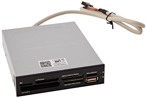 """StarTech.com 35FCREADBK3 - Lector para tarjetas de memoria adaptador con bahía frontal de 3.5"""" USB"""