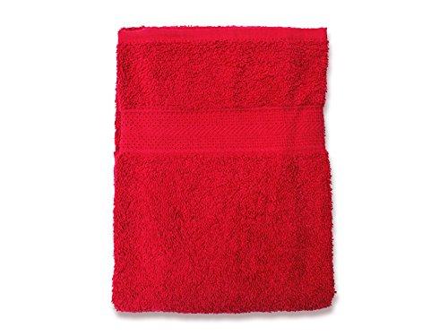 Soleil d'Ocre 441044 Drap de Bain Coton Rouge 70 x 130 cm