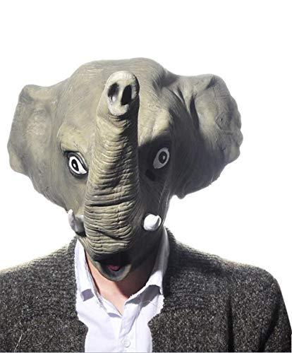 Decoración del Hogar Flor Artificial Cerámica Pastoral Joyas CreativasNovedad De Lujo Disfraz De Halloween Fiesta De Látex Animal Cabeza Máscara Elefante