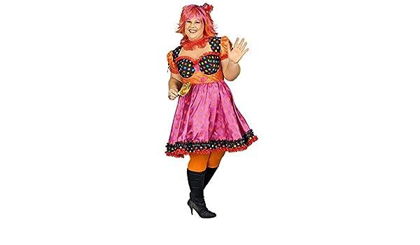 8e434f73b2b8 Clown Antonella Kostüm Damen für große Größen Gr. 44 46 - Schönes ...