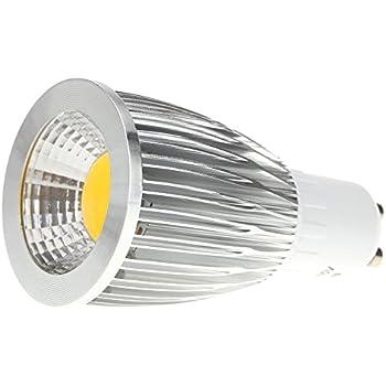 TOOGOO(R)GU10 9W COB LED Luces del bulbo Lampara Bombilla de alto rendimiento Ahorro de energia 85-265V Blanco calido