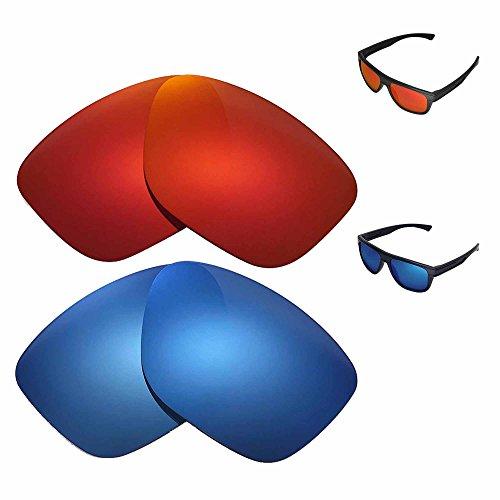 Walleva Polarisierte Fire Rot + ICE blau Ersatz Objektive Oakley Brotkasten Sonnenbrille
